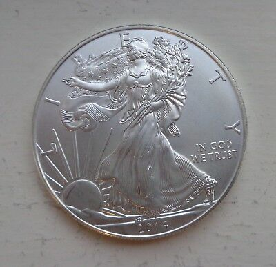 Eagle Liberty USA silver 1oz coin, 999 silver 2014