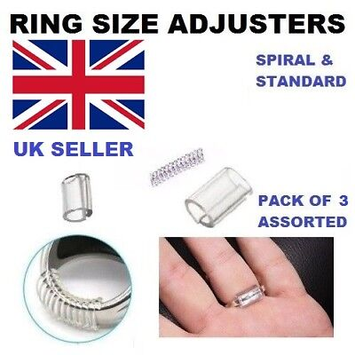 Ring Size Reducers 3 Piece set Ring Snuggies Snugs Clip Guard Resizer Adjusters