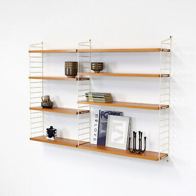 Original Shelving System Shelf STRING by Nisse Strinning - Regal Esche 60er nr.6