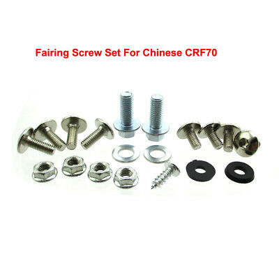 Fairing Screw Set Plastic Panel Bolts For Chinese Pit Dirt Bike CRF70 CRF 70