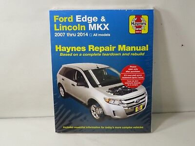Haynes Repair Manual  Ford Edge And Lincoln Mkx  All Models