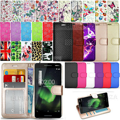 For Nokia 2.1 - New Premium Wallet Leather Case Book Phone Cover +Protector Film