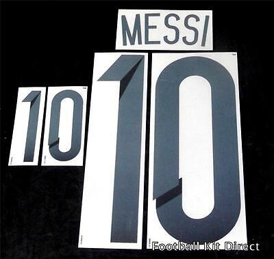 Argentina Messi 10 2014 world cup Football Shirt Name Set Home Sporting ID