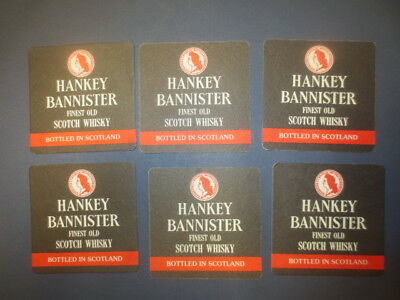6 x  HANKEY BANNISTER SCOTCH WHISKY Coasters Australian  Issue
