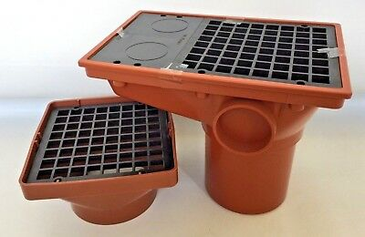 Underground Drainage - Integral Hopper - Square Hopper 110mm & more available
