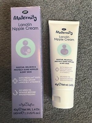 Boots Maternity Lanolin Nipple Cream 40ml - Brand New. RRP £9.49