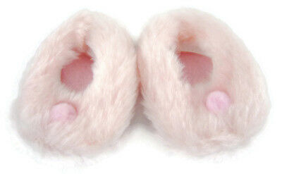 """For 18"""" American Girl Light Pink Pom Pom Fuzzy Slippers Doll Clothes"""