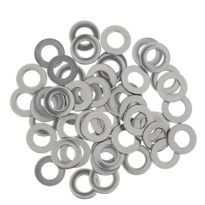 50 Pcs Assorted Flat Washers Stainless Steel Ring Kit Set M8 For Bolt Screws