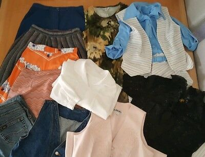 Lot Of Womens Vintage Clothing Skirts Blouses Dresses Xs To S 60s 70s 80s 90s