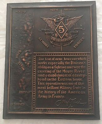 Ww1 Wwi Fifth Division~France Feat Of Arms~Bronze Skin~Meuse River