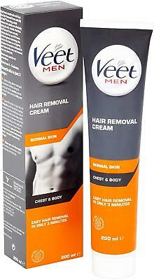 VEET for MEN Hair Removal Cream For the Body 200ml - NEW  - BOXED