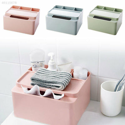 Creative Tissue Box Plastic Cosmetics Box Multi-Grid Office Desktop Storage Box