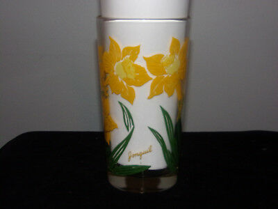 Vintage Boscul Peanut Butter Glass Jonquil Name at bottom