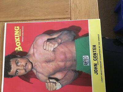 Boxing News Poster John Conteh 10 X 8 Inches