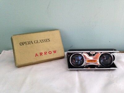 Vintage Arrow Floding Opera Glasses~Boxed~ Made in Japan