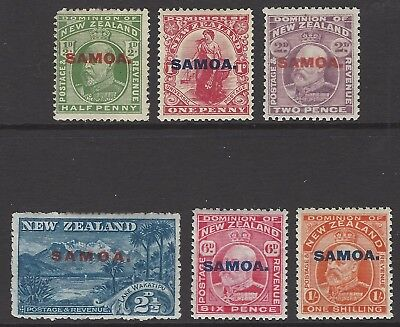 SAMOA 1914 complete set of 6, fresh mint (top 3 are unmounted) SG#115-121