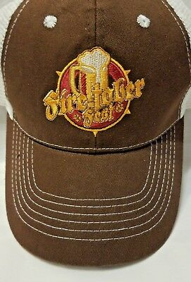 f829088f566 Vintage Fire-Tober Fest Beer Truckers Snap Back Hat Mesh Ball Cap - EUC