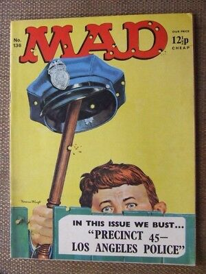 Mad Magazine No 136.  UK edn.