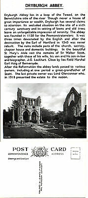 1940's DRYBURGH ABBEY BERWICKSHIRE SCOTLAND UNUSED REAL PHOTOGRAPH POSTCARD