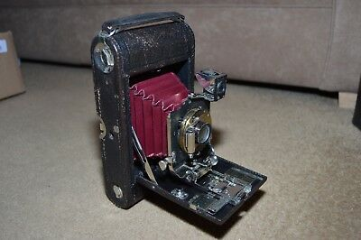 Vintage Eastman KODAK 1902 FPK Automatic folding camera with leather case