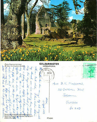 1980's DRYBURGH ABBEY BERWICKSHIRE SCOTLAND COLOUR POSTCARD