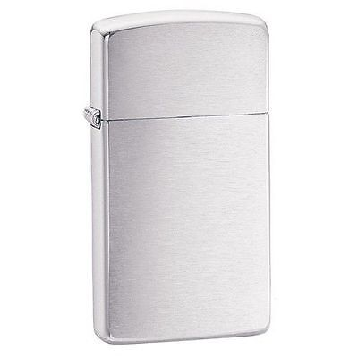 BRIQUET ZIPPO ESSENCE NEUF - BRUSH CHROME SLIM ( Original , Tempete ,Collection)
