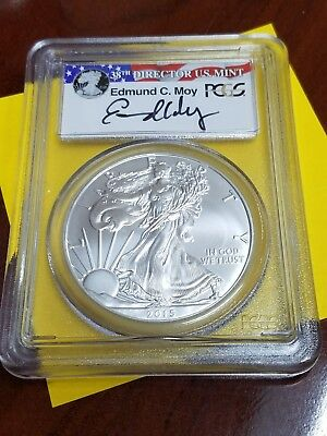2015 American Silver Eagle - PCGS MS70 - First Strike - Moy Signed 31994461