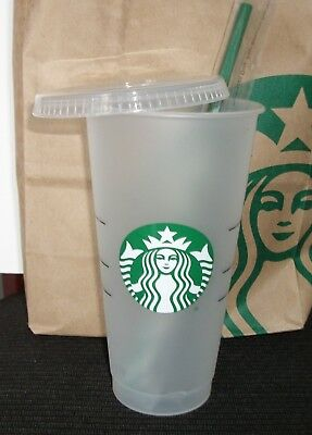 dcd963458bf STARBUCKS Reusable Cold Cup IN HAND 24oz 2018 VENTI Limited Summer LID STRAW