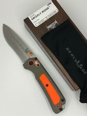 * New Benchmade 15061 Grizzly Ridge Folding HUNT S30V Plain Edge Grivory Handle