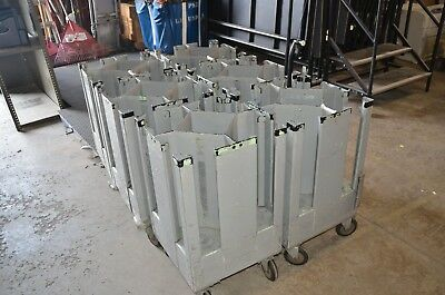 Six Metal Rolling Plate Dispensers, PSU