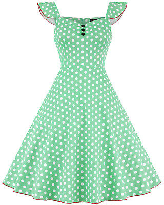 PLUS SIZE 50S Swing Vintage Retro Pinup Dress Rockabilly Evening Party  Dresses