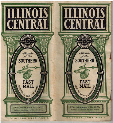IC Illinois Central Public Time Table 1907