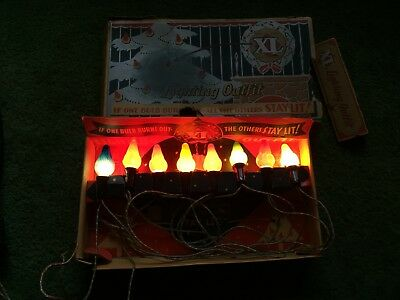 Vintage 1930's Xl Lighting Outfit Trade Mark Bulb Christmas Lights