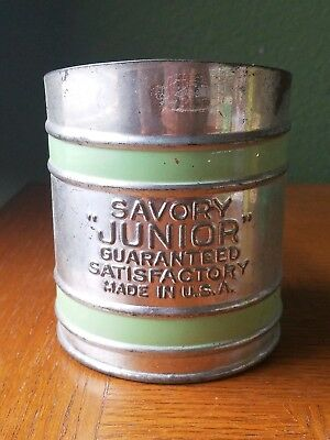 Vintage 1950's Green Savory Junior Sifter Shabby Chic EXCELLENT PAINT