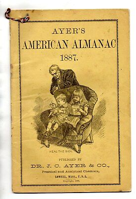1887 AMERICAN ALMANAC- Presented to People in BLANDVILLE, KENTUCKY, by MR COFFEE