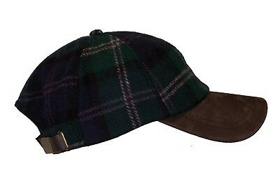 Walker and Hawkes - Uni-sex 100% Wool Baseball Cap Leather peak Outdoor One-size