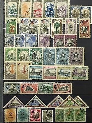 Rare Liberia Stamps 6 Pages Lot 13