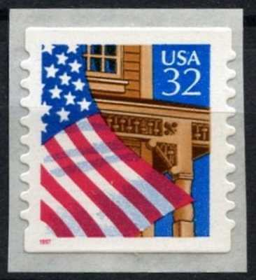 USA 1995-7 SG#3016 Flag Over Porch Self Adhesive MNH Coil Stamp #D77929