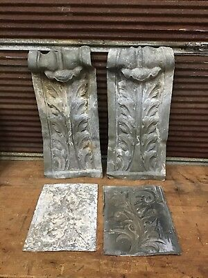 💥 GORGEOUS Antique Architectural Zinc TRIM ~ Floral Scroll Pattern-FRENCH