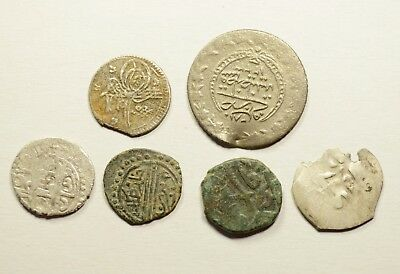 Lot Of 6 Ancient Mixed Ottoman Islamic Turkey Coins