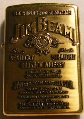 Zippo Lighter, Jim Beam, Signed by James B. Beam, W/ Metal Case, Bourbon Whiskey