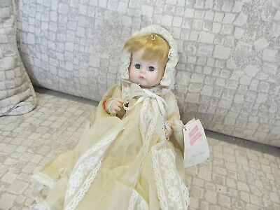 Madame Alexander Sweet Tears Doll with original tags and Christening Dress