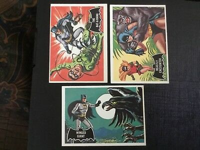 1966 Topps Batman Black Bat   Lot X 3 No.46,50,52