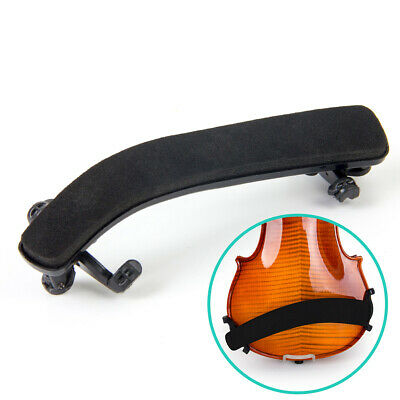 Violin Shoulder Rest Fully Adjustable Pad Support for Violin 3/4 4/4 Black