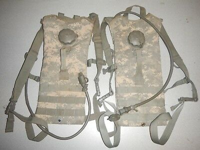 2 US Military MOLLE  3L Camelbak 100 OZ Hydration System Carrier Pack  ACU USGI