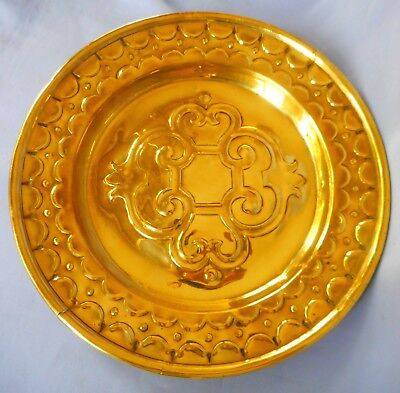 Vintage Brass Wall Plate / Charger  - Good Condition