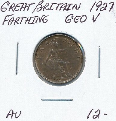 Great Britain  Farthing 1927 George V - Au