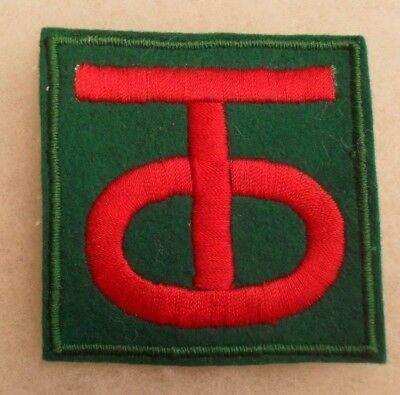 Wwii Fantastic 90Th Infantry Div A Multiple Variants Patch Famous D-Day Unit