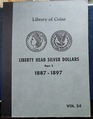 Vintage Hard to Find Library of Coins Album 1887-1897 Morgan Dollars 37 Slots
