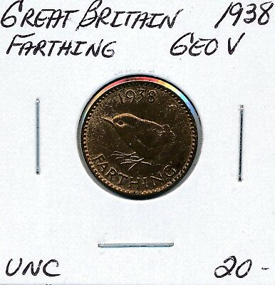 Great Britain  Farthing 1938 George V - Unc